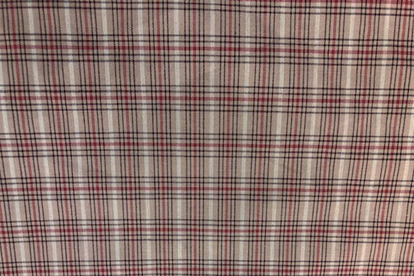 Rainbow Fabrics G1: Latte Brown Gingham