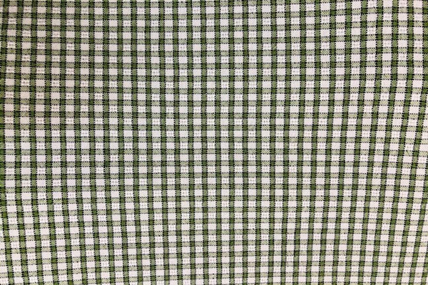 Rainbow Fabrics G1: Olive and Off White Gingham - 2mm check