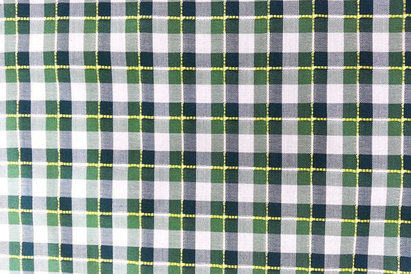 Rainbow Fabrics G1: Organic Green Tartan Plaid Gingham