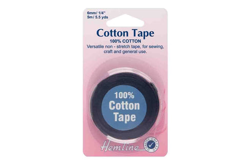 HY: 6mm Black Cotton Tape_SOLD OUT