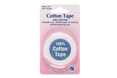 HY: 6mm White Cotton Tape_SOLD OUT