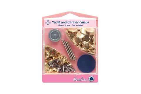 HY: Yacht And Caravan Snaps Starter Sets - Gold