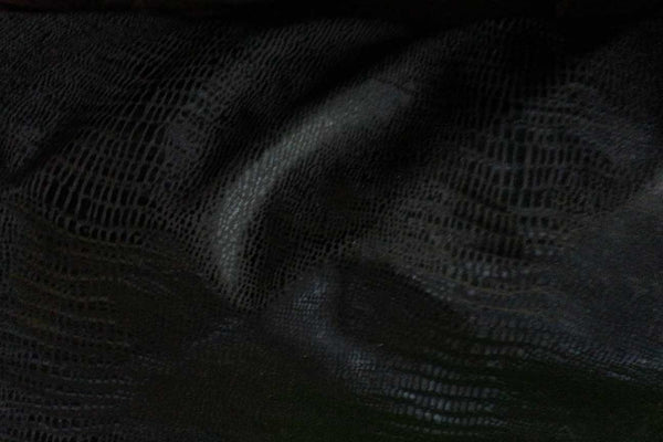 Rainbow Fabrics LE: Alligator Skin Black Leatherette Leatherette