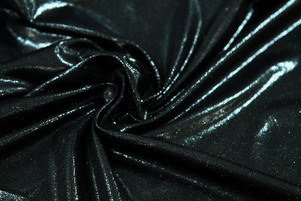 Rainbow Fabrics LE: Sparkle Night Sky Black Leatherette Leatherette