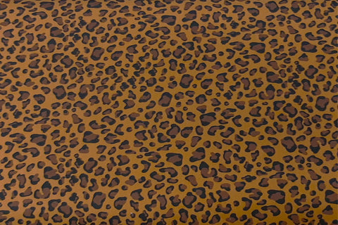Leopard Spot On Nut Brown Patchwork / Craft Fabric