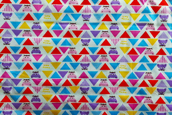 Rainbow Fabrics Multi Color Triangles Printed Cotton