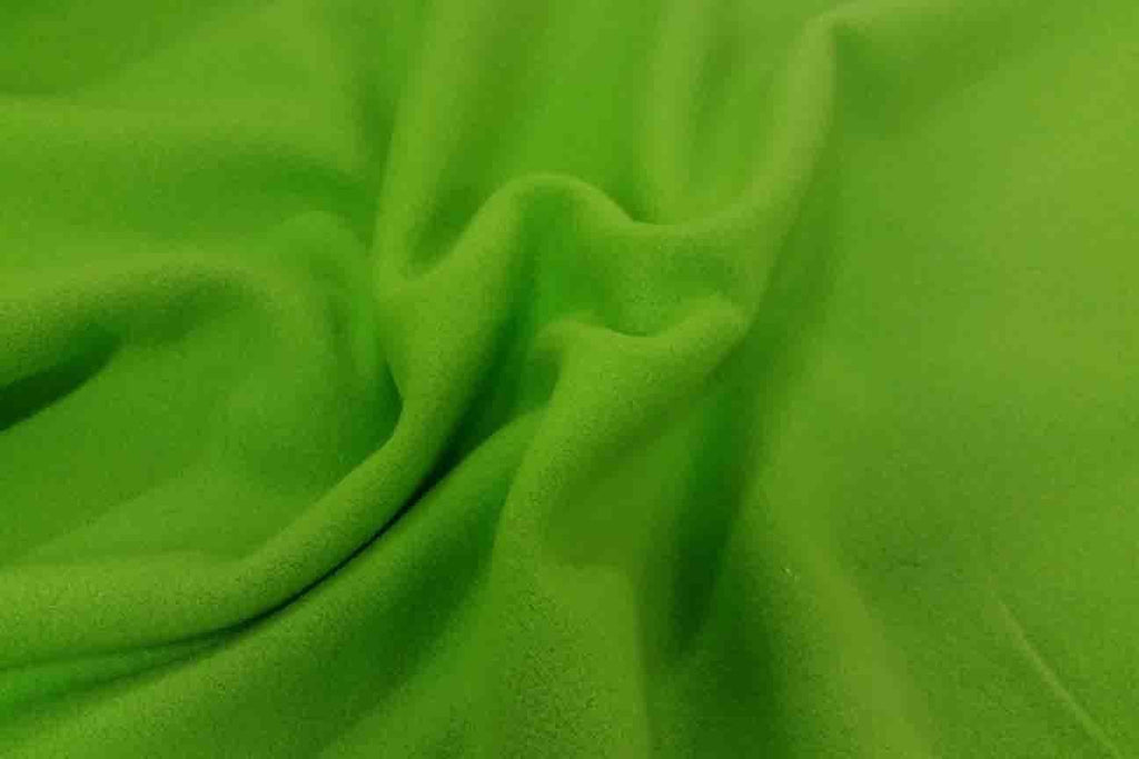 Rainbow Fabrics Neon Green Plain Wool