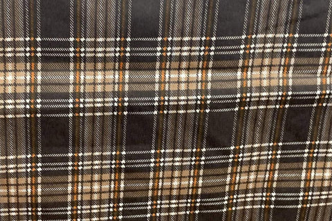 OF: Brown Check Flannelette