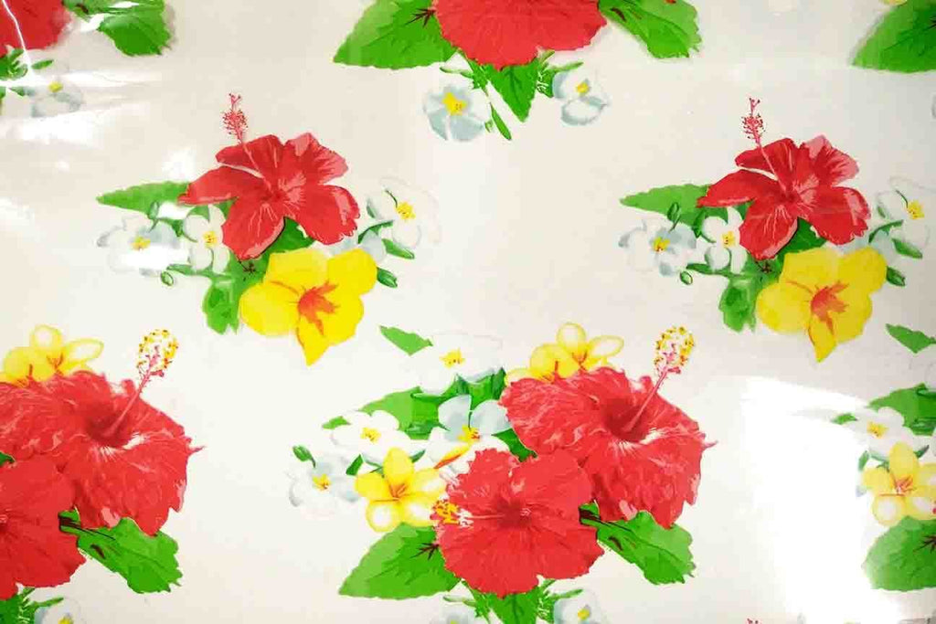 Rainbow Fabrics OP: Red Flowers Plastic