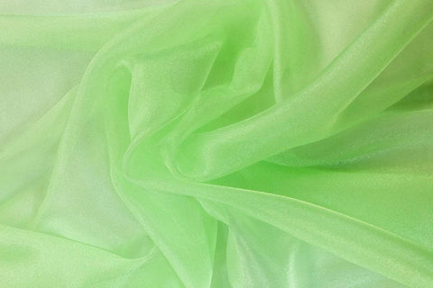 PCO: Apple Green Plain Crystal Organza # 16