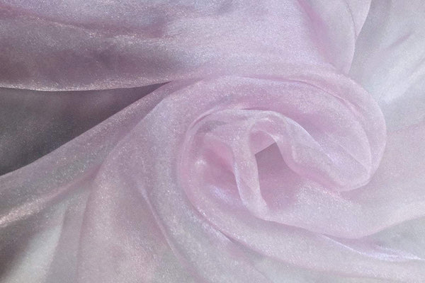 Rianbow Fabrics PCO: Light Pink Plain Crystal Organza # 07 Plain Crystal Organza