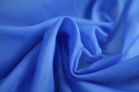 MAO: Sea Blue Plain Matte Organza