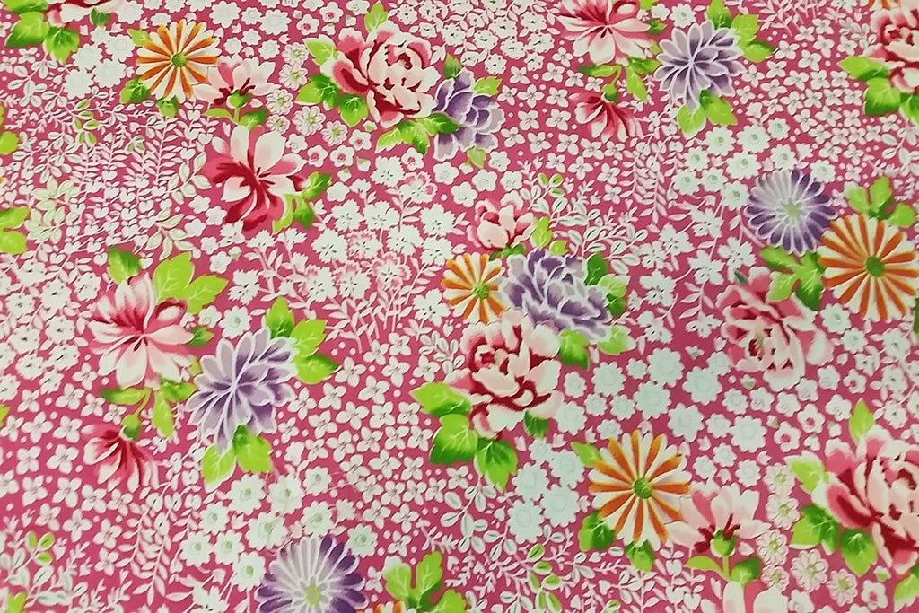 Rainbow Fabrics PCP2:  River of Beautiful Flowers Printed Cotton
