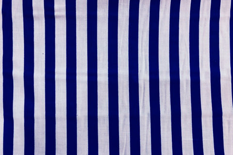 PP: Blue and White Stripes Printed Poly Cotton
