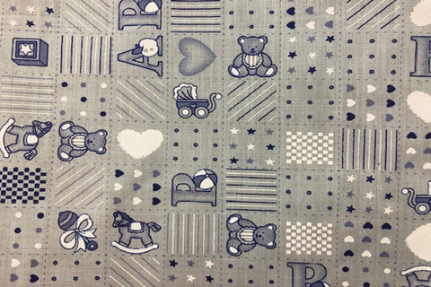 PP: Blue Nursery Printed Poly Cotton
