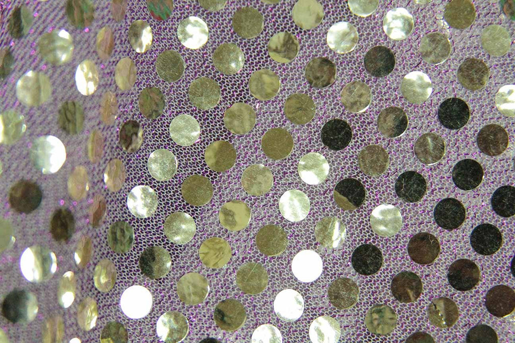 Rainbow Fabrics RS: Gold Sequin on Pink Pink Fabric