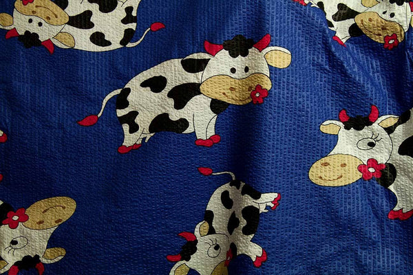 Rainbow Fabrics S1: Cow Print Multi Coloured