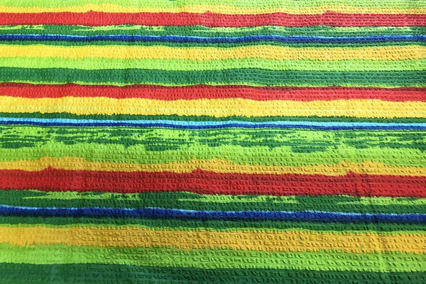 Rainbow Fabrics S1: Rainbow Stripes Multi Coloured
