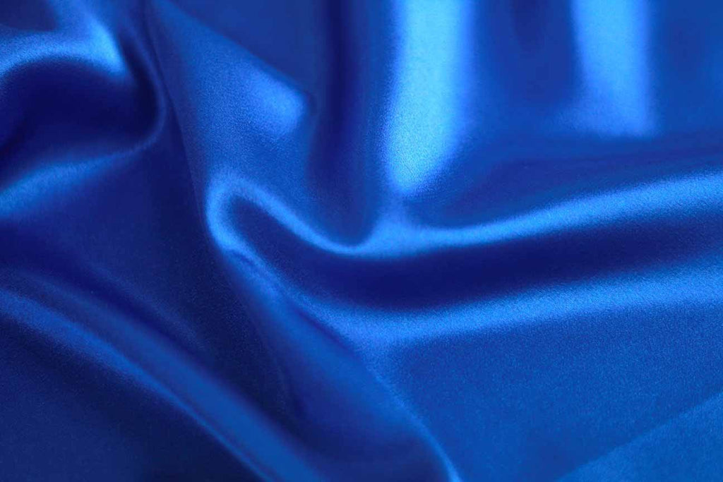 Blue Satin Fabric Rainbow Fabrics Sydney