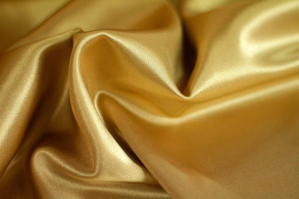 Rainbow Fabrics SA: Honey Drizzle Gold Stretch Satin Yellow Fabric