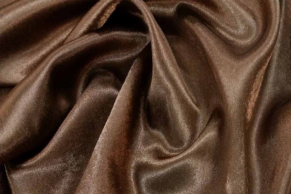 Rianbow Fabrics ST: Brown Texture Satin Polyester Satin