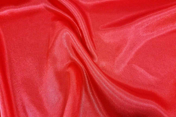 Rianbow Fabrics ST: Red Texture Satin Polyester Satin