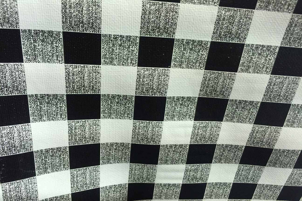 Rainbow Fabrics TP: Black And White Check Table Protector