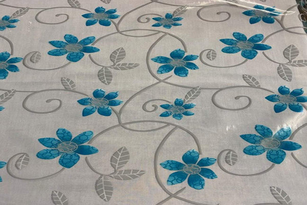 Rainbow Fabrics TP:  Blue Flower Table Protector