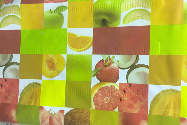 Rainbow Fabrics TP:  Fruit Salad Check Table Protector