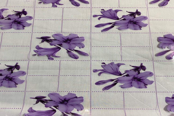 Rainbow Fabrics TP:  Purple Lily Table Protector