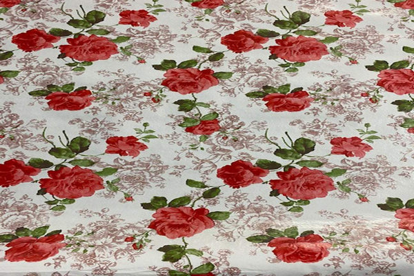 Rainbow Fabrics TP:  Red Carnation Table Protector