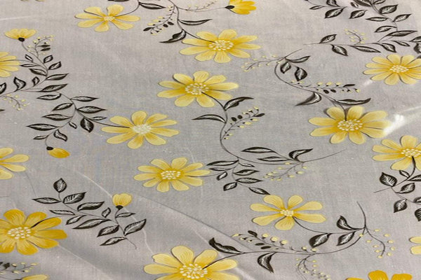 Rainbow Fabrics TP:  Yellow Flower Table Protector