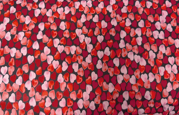 Rainbow Fabrics Valentine Red Heart Patchwork / Craft Fabric Blue Craft Fabric