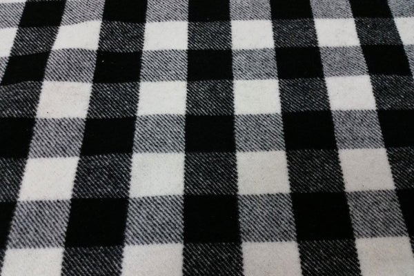 Rainbow Fabrics WF: Black and White Traditional Check Wool