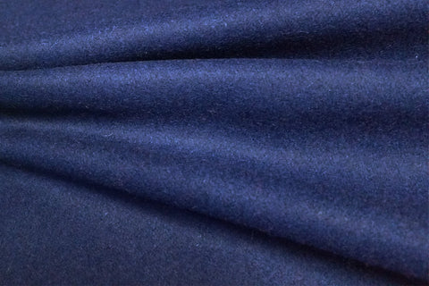 WF: Bright Navy Blue Plain Wool - SOLD OUT