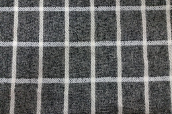 Rainbow Fabrics WF: Dark Grey and White Plaid Wool
