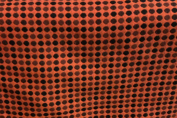 Rainbow Fabrics WF: Polka Dots on Dark Orange Wool