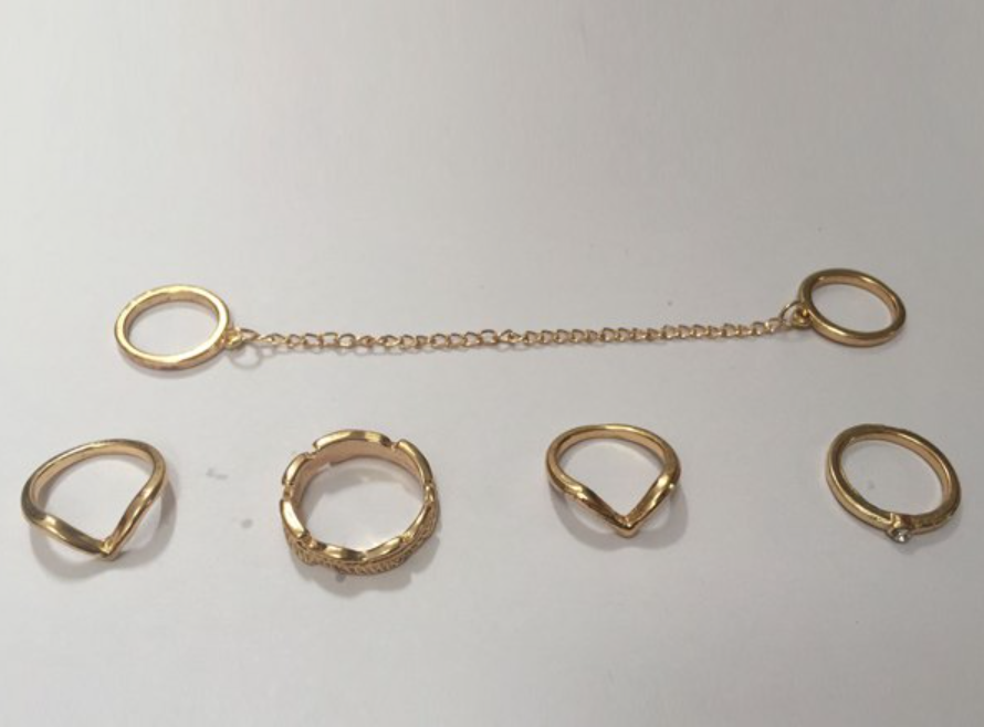 5 Piece Chain Ring Set