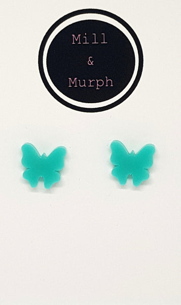 Butterfly Studs - SELECT COLOUR