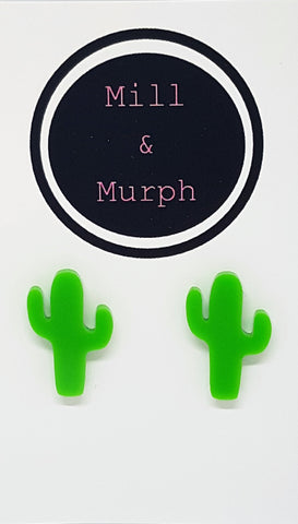 Tijuana Cactus Studs - CHOOSE COLOUR