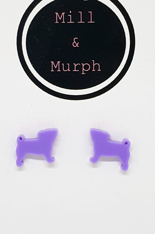 Pug Studs - CHOOSE COLOUR