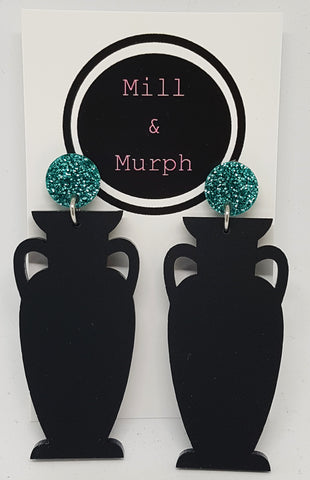 Urn Dangle Earrings