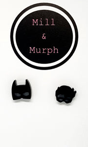 Batman and Robin Studs