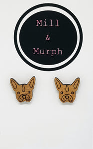 French Bull Dog Bamboo Studs