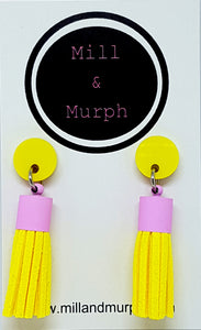 Mini Suede Tassel Dangles - SELECT COLOUR