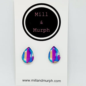 Colour Pop Abstract Glass Studs