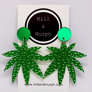 Jungle Tops MEGA Dangle Earrings - SELECT COLOUR