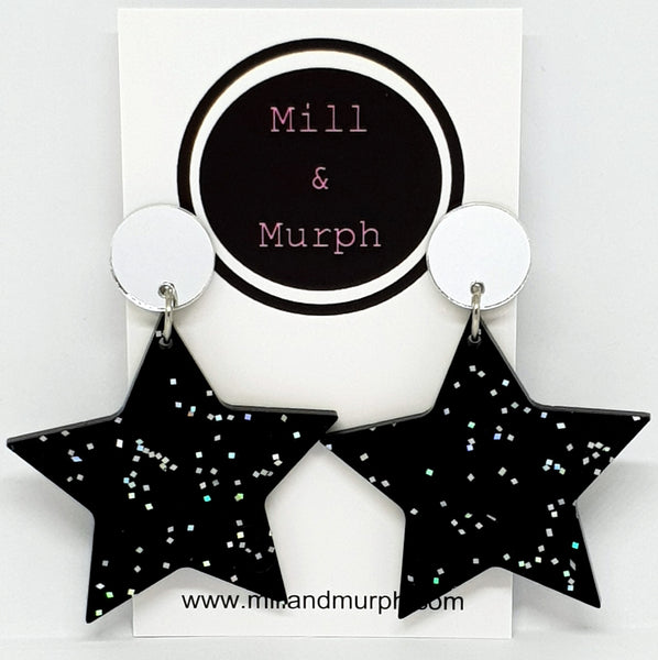 Sparkly Star Dangles - SELECT COLOUR