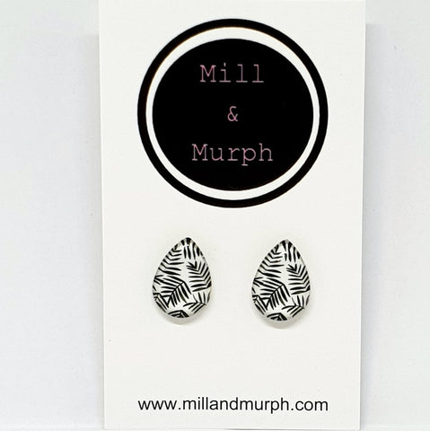 Midi Fernery Glass Studs