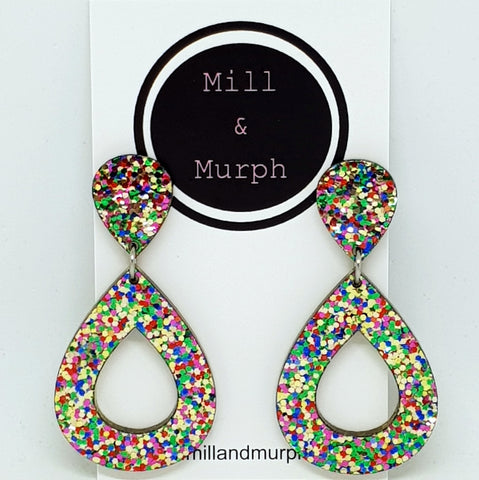 Party Time Double Teardrop Dangles